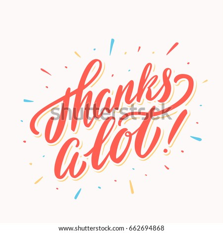 thanks lot thank you card lettering stock vector 662694868 shutterstock