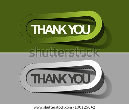 thanks you labels sticker, vector - stock vector