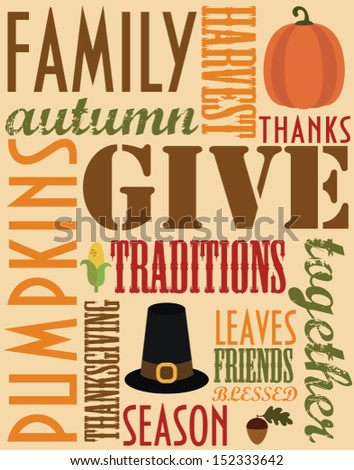 thanksgiving card design. vector illustration - stock vector
