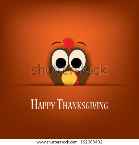 Thanksgiving card vector design with traditional turkey. Eps10 vector illustration suitable for cards, flyers, posters, invitations - stock vector