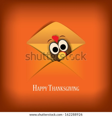 Thanksgiving card vector illustration design with traditional turkey and space for text. Eps10 vector illustration. - stock vector