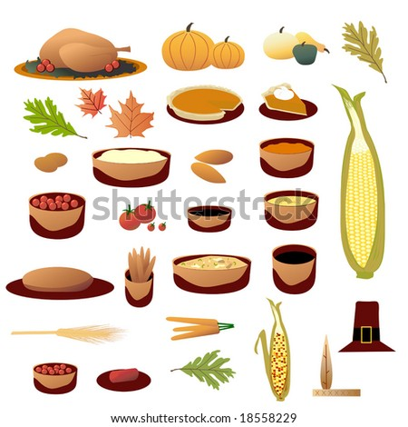 Thanksgiving Collection vector is original artwork. - stock vector