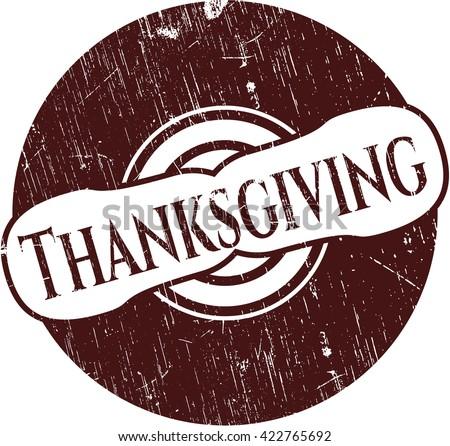 Thanksgiving grunge stamp - stock vector