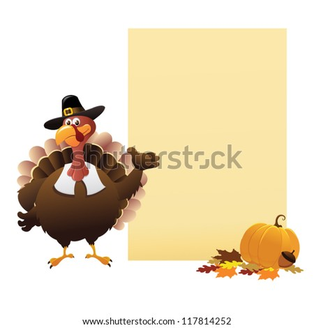 Thanksgiving Note - stock vector