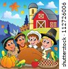Thanksgiving pilgrim theme 4 - vector illustration. - stock vector