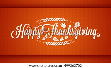 Thanksgiving vintage card lettering background