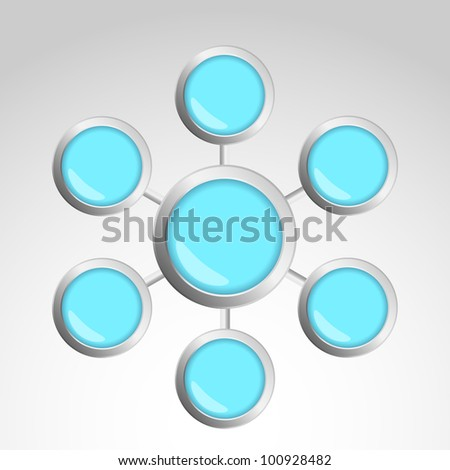 The abstract logo. Vector illustration of seven elements. - stock vector