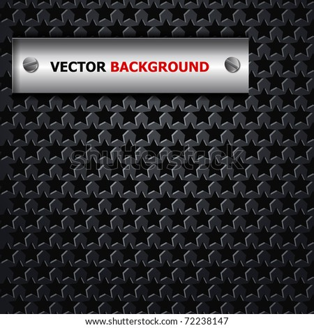 the abstract metallic background - stock vector