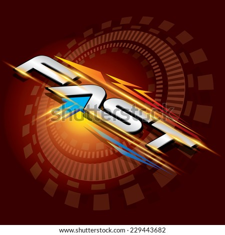 The abstract of FAST concept vector - stock vector