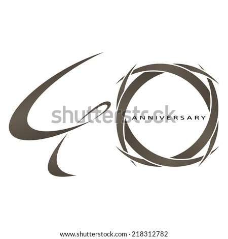 The abstract of 40 years anniversary vector - stock vector