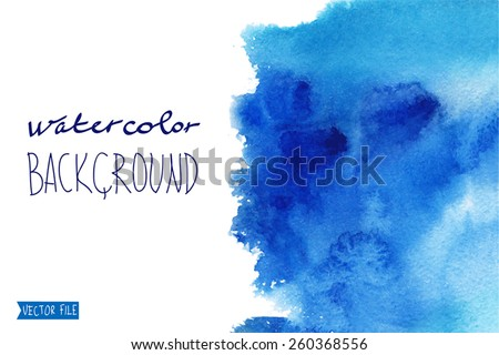 "The abstract picturesque vector  background for your text drawn with a water color.Album  "" Winter backgrounds."".Album ""New Abstract Water Colour Backgrounds"". ""  Vector watercolor.""   - stock vector"