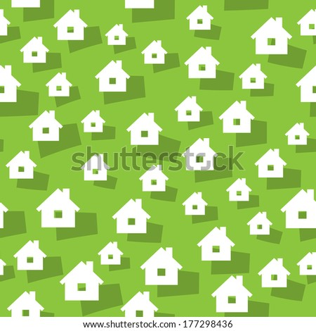 the abstract seamless background made out of house icons / the house background / the home background - stock vector