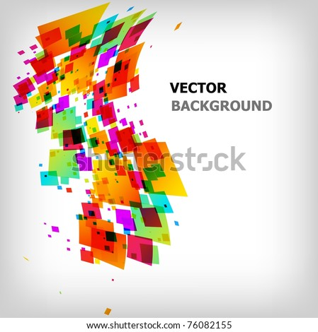 the abstract square colorful background - vector illustration - stock vector