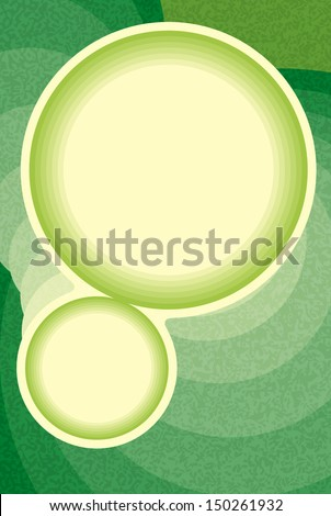 The abstract template made out of two blank circles ready for your text / The circle blending background / Circles