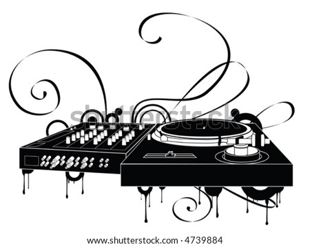 The Abstract Turntable - stock vector