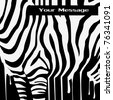 the abstract vector zebra silhouette with smudges barcode - stock vector