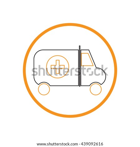 the ambulance. vector medical science icon - stock vector