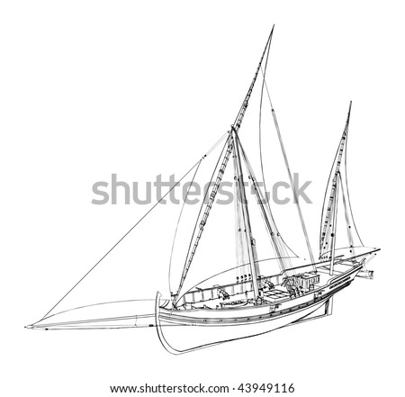 The Ancient Boat Vector 05