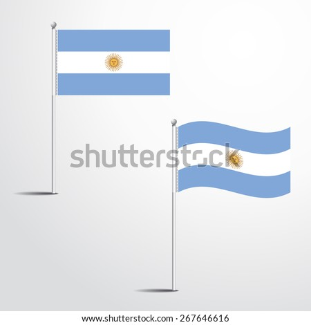 The Argentina flag normal and waving flag set | abstract flag vector eps 10  - stock vector