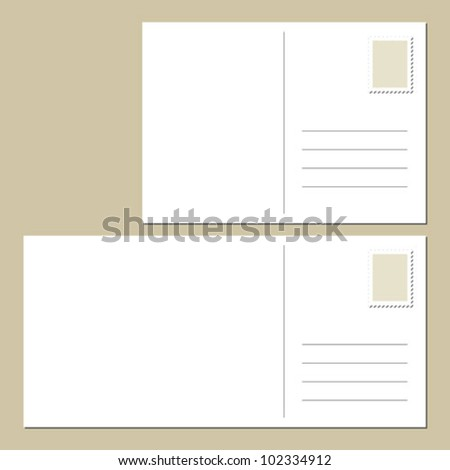 Postcard template stock images royalty free images for Backside of postcard template