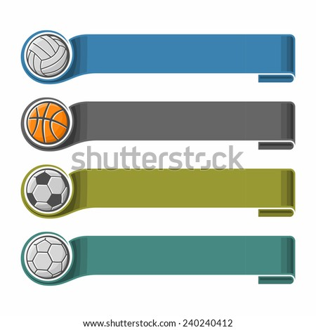 The background image for the text on the sports theme - stock vector