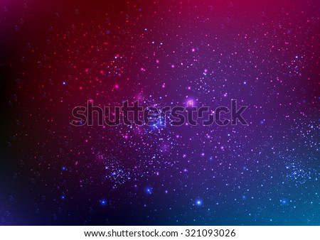 The background of the night sky with stars - stock vector