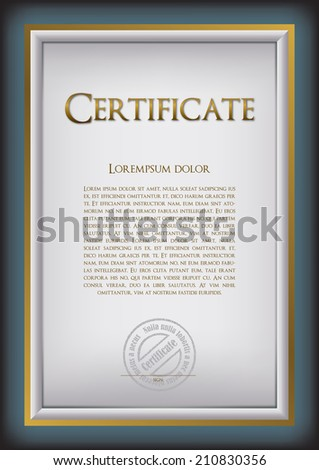 The basis for creating a foundation certificate, diploma, gift card, Memorial sheet, menu for companies, hotels, shops, schools, educational agencies, valuation, price, thanks, Awards - stock vector