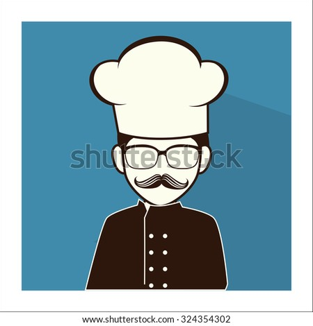 the best chef design, vector illustration eps10 graphic  - stock vector
