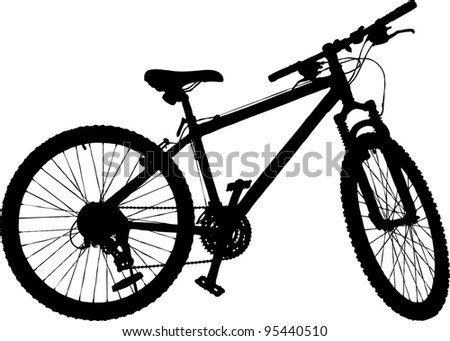 The bicycle - stock vector