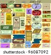 The big set of vector tickets in various styles c images. EPS10 - stock vector
