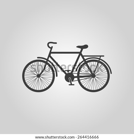The bike icon. Bicycle symbol. Flat Vector illustration - stock vector