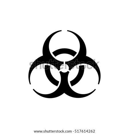 Biohazard Icon Biohazard Symbol Stockvector 517614262 Shutterstock