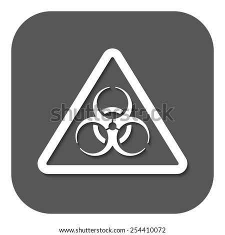 The biohazard icon. Biohazard symbol. Flat Vector illustration. Button - stock vector