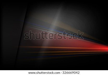 The black background with colored rays