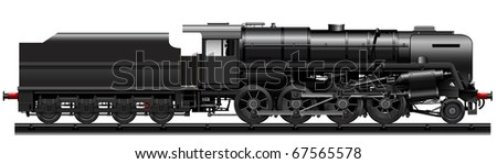 the black old steam locomotive