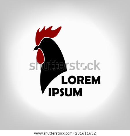 The black stylized cocks icon on a white background - stock vector
