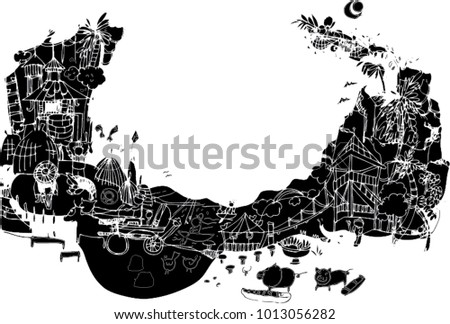 Line Art Design Abstract : Black vector line art design abstract stock