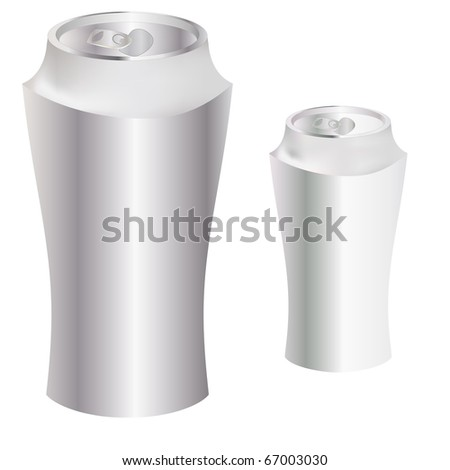 The Blank metal can. Vector illustration .