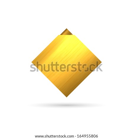 The blank rhombus template ready for your text / The gold rhombus template / The gold rhombus - stock vector