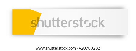 the blank white web banner with yellow tag / the blank banner / the blank box