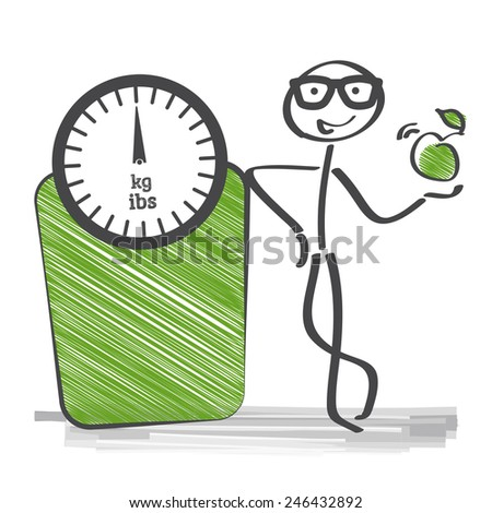 The body mass index is a measure of relative size based on the mass and height of an individual. - stock vector