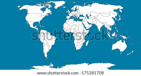 the boundaries of a world map on a blue background