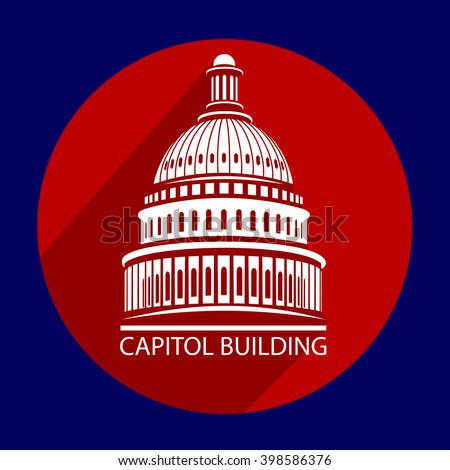 The building of the Capitol of the United States of America - stock vector