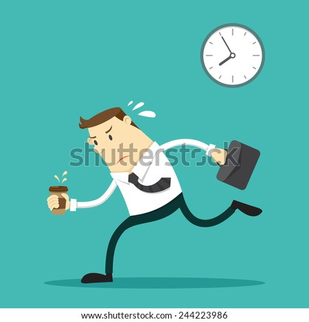 The businessman going to work - Vector illustration - stock vector