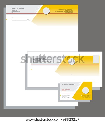 The card and firm form - stock vector
