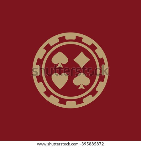 The casino chip icon. symbol. Flat Vector illustration - stock vector