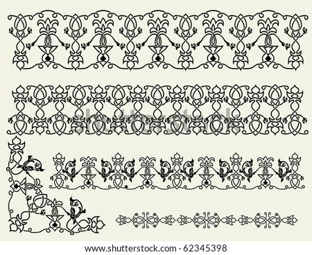 The Celtic patterns, borders and corner - stock vector