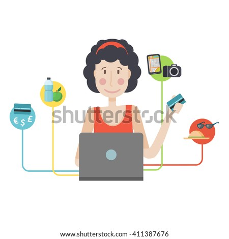 Washing Dishes Vector Stock Vector 32370160 Shutterstock