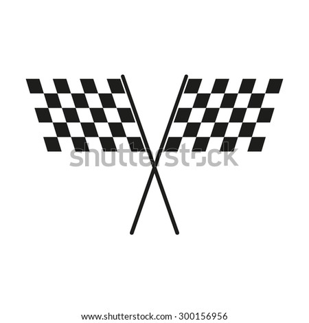 The checkered flag icon. Finish and start, winner symbol. Flat Vector illustration - stock vector