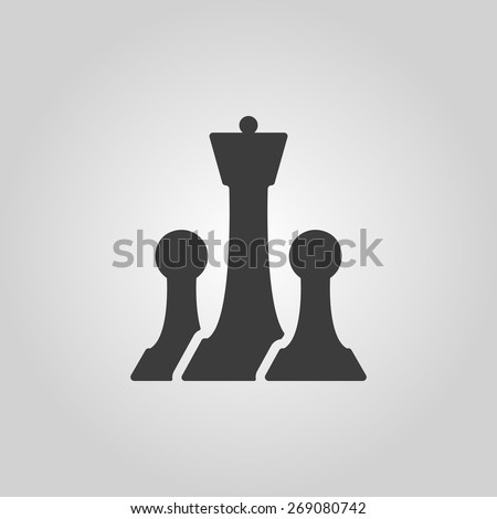 The chess icon. Game symbol. Flat Vector illustration - stock vector